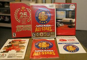Super Mario All Stars 25th Anniversary -Wii- COMPLETE BOX w/ Super Mario History