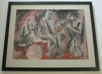 FREDERICK GILL PAINTING MID CENTURY MODERN ABSTRACT EXPRESSIONISM JAZZ MUSICIANS