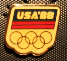 88 Seoul Korea Olympic Rings Commemorative Pin Summer Olympiad USA Team America
