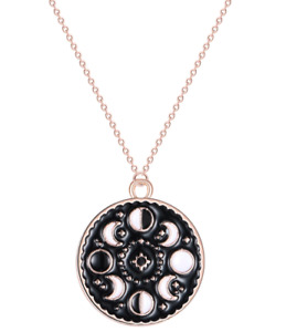 Moon Pendant Celestial Necklaces Gothic Stars and Moon jewelry Large Full Moon Necklace Luna Moon Phase Moon Gazing Wiccan Jewelry