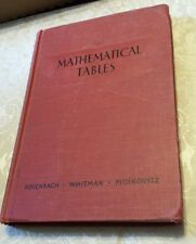 "VINTAGE BOOK ""MATHEMATICAL TABLES"" CARNEGIE INSTITUTE OF TEC 1943 EDUCATION"