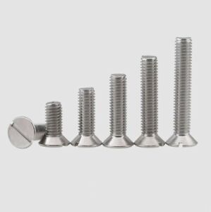 10/20Pcs GB68 M3-M5 304 Stainless Steel Slotted Countersunk Screws Length 5-30mm
