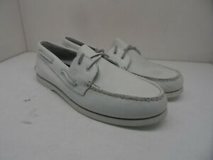 Sperry Top-Sider Men's Authentic Original 2-Eye Casual Boat Shoes White Size 13M