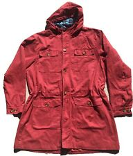 COTTON TRADERS Jacket, Coat, Size XL Red ,Check, Lined,  Hidden Zip Closure