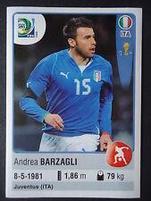 Panini 116 Andrea Barzagli Italien Confed Cup 2013 Brasilien