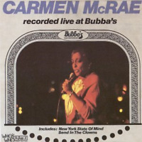 CARMEN MCRAE-LIVE AT BUBBA'S-JAPAN CD E25