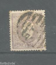 Portugal 1867 King Luis Curved Label 240r Sg 67 194