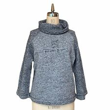 Fendi Vintage Logo Sweater Jumper Knit Top High Neck Gray Size 40 Authentic
