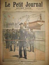 RUSSIE MARINE ESCADRE MEDITERRANEE LES DRAPEAUX RUSSES LE PETIT JOURNAL 1893