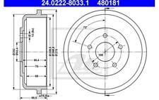ATE Juego de 2 tambores frenos FORD TOURNEO TRANSIT 24.0222-8033.1