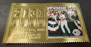 St. Vincent - Baseball, Oriole Park at Camden Yards, MLB - Gold Stamp - MNH