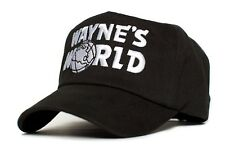 WAYNE'S WORLD Embroidery Black Baseball Cap Hat Party Movie Costume 90's Party