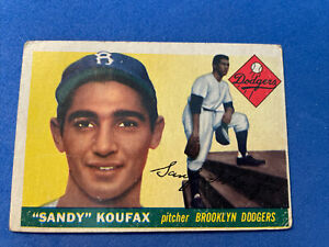 1955 Topps Baseball #123 Sandy Koufax (ROOKIE), Brooklyn Dodgers  VG