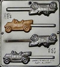 FREE SHIP NEW Hobby ANTIQUE CARS Chocolate Candy Fondant Plaster Clay Loli Mold