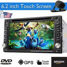 Camera+In Dash GPS Navigation Car DVD CD Player Audio Video Stereo MP4 Head Unit