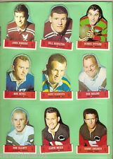 #T12.  1969 SCANLENS RUGBY LEAGUE DIECUT CARD SET, POPPED