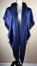 NEW LV Monogram NIGHT BLUE Silk Scarf/Shawl 100% Authentic M72412 Louis Vuitton