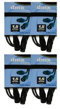 4 x DMX Kabel 1,5m , XLR 3-pol. male-female  für 110 Ohm Anwendung