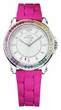 Juicy Couture Ladies' Pedigree Pink Silicone Strap Watch White Dial