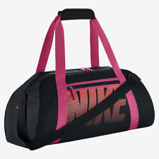 NIKE GYM BAG SPORTS DUFFEL PINK  / BLACK CARRY ALL BA5167 010 NEW SCHOOL