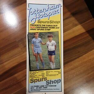 Tottenham Hotspur Centenary Football Shirts1982 Le Coq Sportif SPURS SHOP ADVERT