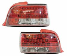 1992-1998 BMW E36 2DR 3-Series Custom Disco Clear Lens LED Taillights - Red