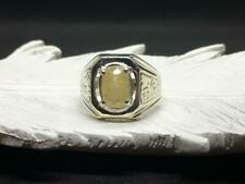 Eastern Classy in Premium Fine Silver Pukhraj Ring For Mens Yellow Sapphire Ring