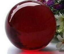 Asian Red Quartz Clear Magic Crystal Healing Ball Sphere 40mm + Stand