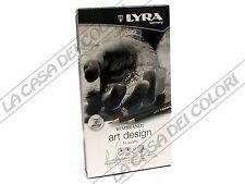 LYRA REMBRANDT - SET ART DESIGN - 12 MATITE IN GRAFITE ASSORTITE - DA 4H A 6B