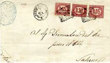 1875 servizio di stato c.mi 20+5+5 su lettera con annullo numerale