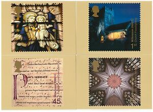 GREAT BRITAIN 2000 MILLENNIUM PROJECTS SPIRIT & FAITH SET OF 4 MINT PHQ CARDS
