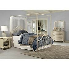 Dover Bed Set-Full-W/Canopy &Legs-Bed Frame Not Included-Cream