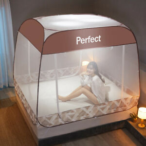 summer bed netting free installation of Mongolian mosquito net Full Queen King