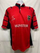 LFR Munster Live for Rugby Ireland Jersey Men's Size M Red Mock Collar Replica