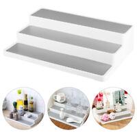White 3 Tier Shelf Jar Rack Holder Cupboard Organiser Storage Kitchen Tool UK