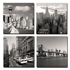 Wall Art Canvas Prints 4 Panels New York City Landmark Picture Modern Home Photo