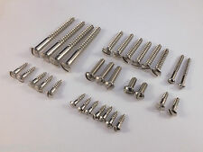 New SINGLE SLOT NICKEL SCREWS SET for early 50's style Telecaster Tele guitar