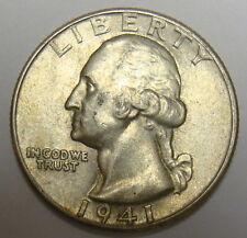 1941 WASHINGTON QUARTER, VERY NICE COLLECTOR COIN, FREE SHIPPING