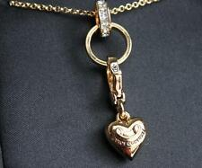 NWT Juicy Couture GOLD CHARM CATCHER Starter NECKLACE Banner Heart Crystal Rare
