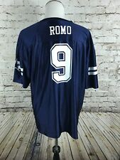 Men's Tony Romo Dallas Cowboys Blue Jersey Size 2XL NFL Football