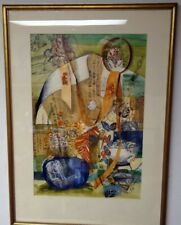 Byron Browne (1907-1961) Listed Museum Art Original Painting Gouache Mixed Media