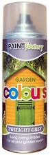 X23 crépuscule GRIS JARDIN Peinture aérosol durée nuances pour bois 400ml