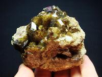 185g Shining Brown Phantom VESUVIANITE Lined Crystal Mineral Specimen