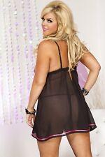 Plus Size Lingerie XL-2X-3X Sexy Lenceria crossdresser Sensual Lingere Dress