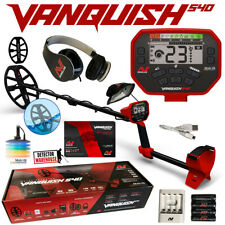 "Minelab Vanquish 540 with Headphones, 12"" Coil with Cover and Recharg. Batteries"