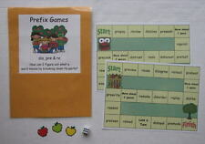 Teacher Made Literacy Center Educational Learning Resource Prefix Games