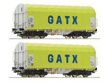 Roco 76055 Güterwagenset Schiebeplanenwagen GATX 2x H0