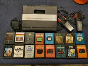 Atari 7800 Console Bundle 16 Games Untested
