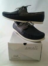 AMALI Brand Black & Gray Driving Moccasins Mens Size 12 in ORIGINAL Box EUC SG