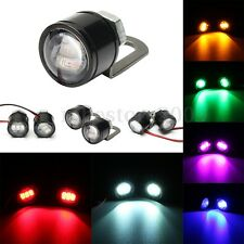 2x 12V Motorcycle Mirror Mount Eagle Eye LED Flash Strobe Lights Backup DRL Lamp